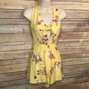 Kendall & Kylie Yellow flower romper